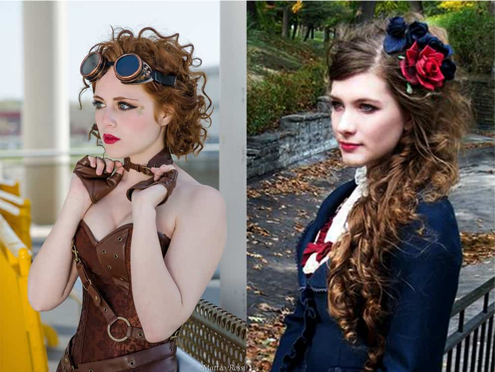Steampunk and Victorian bridesmaid hair ideas