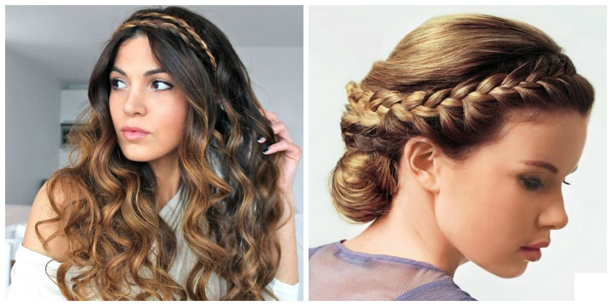 easy hairdos for long hair, stylish Greek style hairstyle on long hair