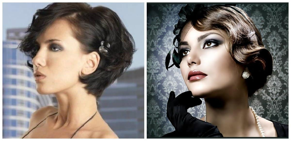 easy hairstyles for short hair, cold wave short hairstyle