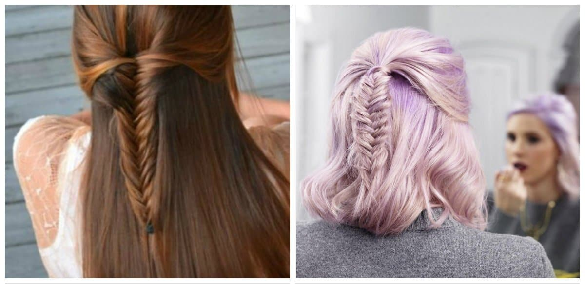 easy hairstyles for short hair, stylish fish tail for short hair