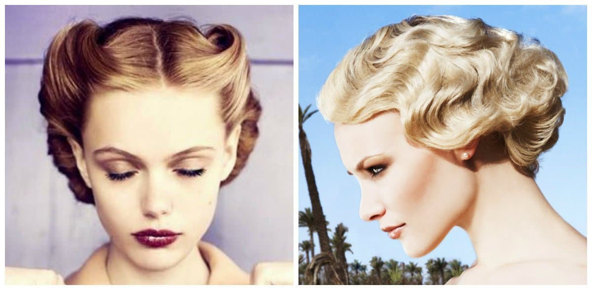 easy hairstyles for short hair, stylish retro short hairstyles