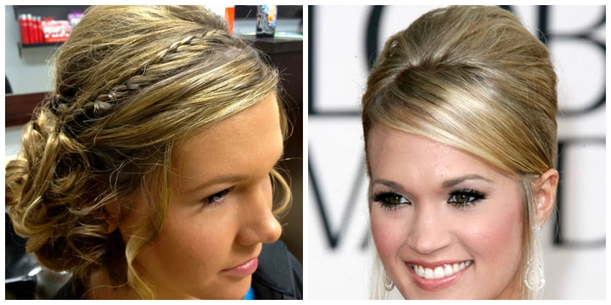 easy updos for medium hair, bunches and bampes for medium hair