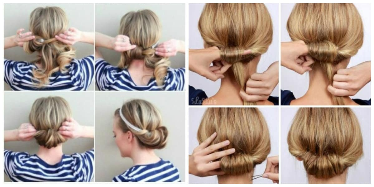 easy updos for medium hair, stylish Greek style hairstyle for medium hair