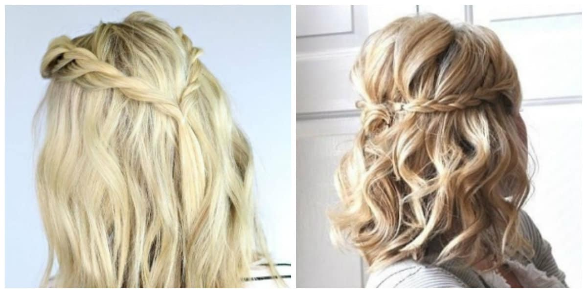 easy updos for medium hair, fashionable weaving for medium hair
