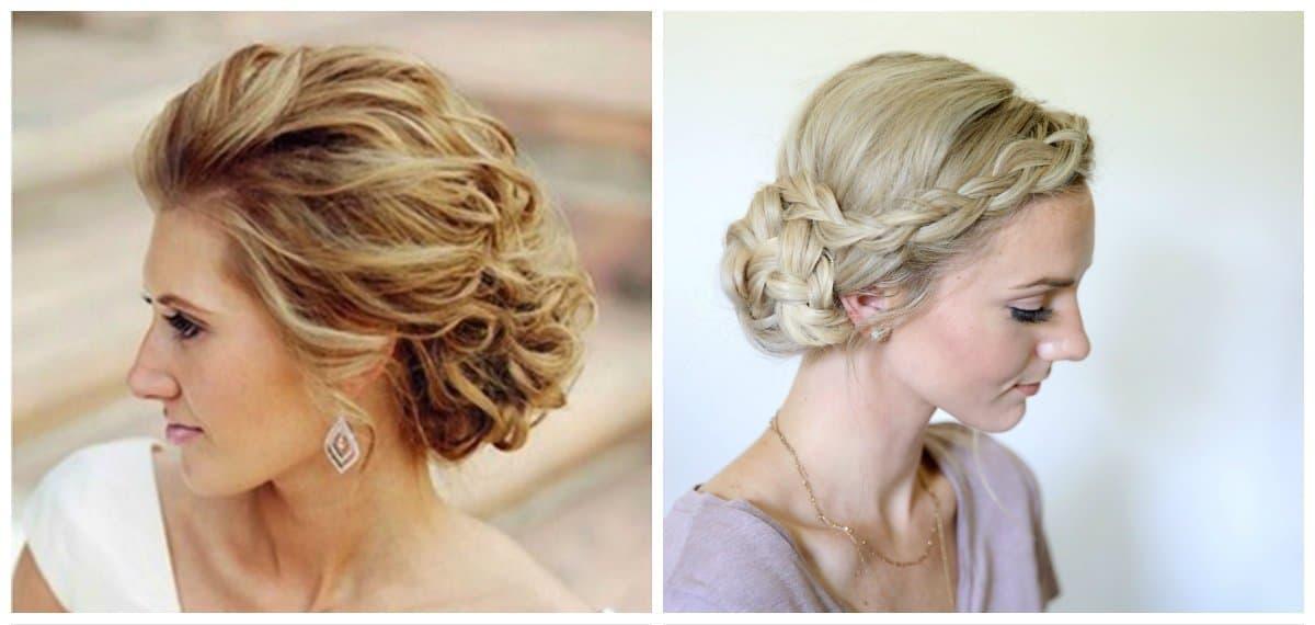 elegant hairstyles for short hair, stylish bun for short hair