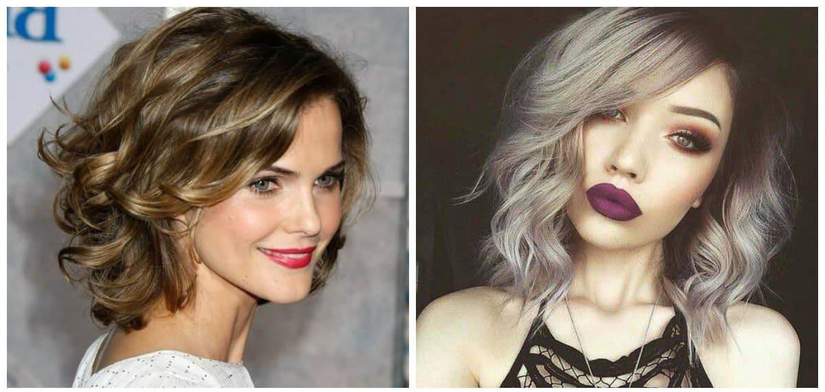 elegant hairstyles for short hair, stylish curls for short hair
