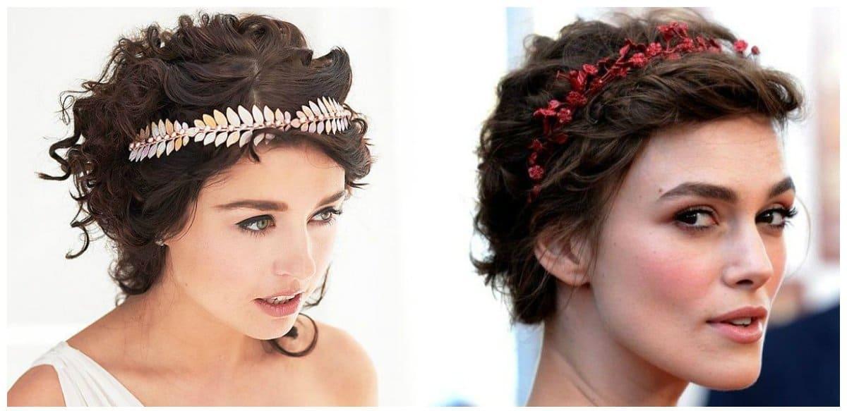 elegant hairstyles for short hair, Greek styling for short hair