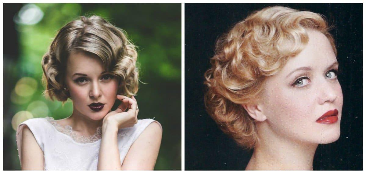 elegant hairstyles for short hair, retro styling for short hair