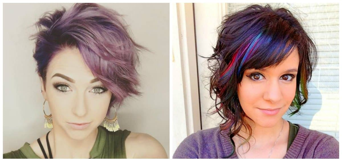 fancy hairstyles for short hair, stylish asymetric hairstyles for short hair
