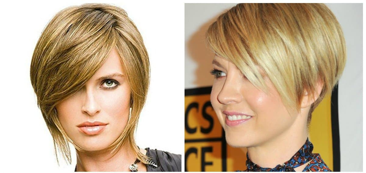fancy hairstyles for short hair, stylish cascade, trendy bean hairstyle