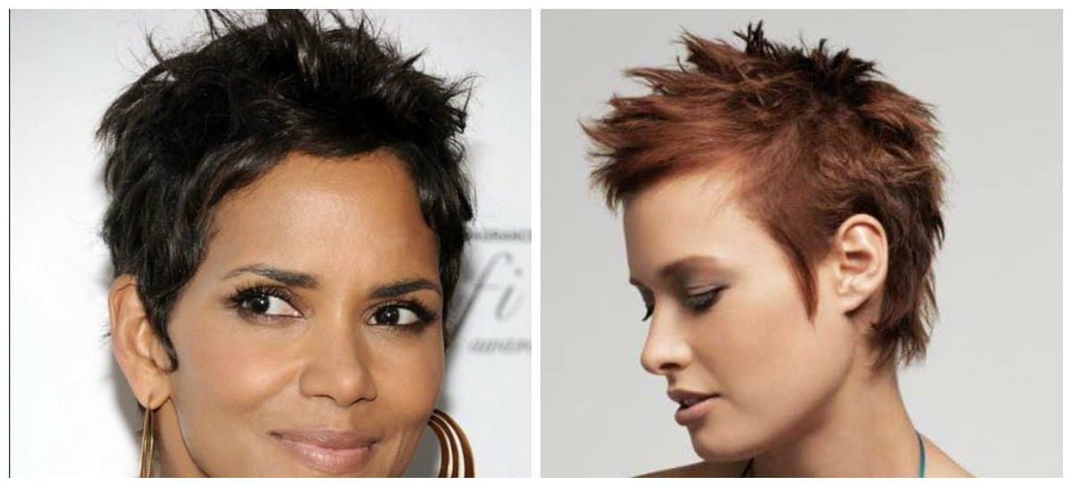 fancy hairstyles for short hair, fashionable Iroquois hairstyle