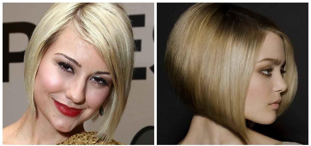 fancy hairstyles for short hair, stylish quads without bangs
