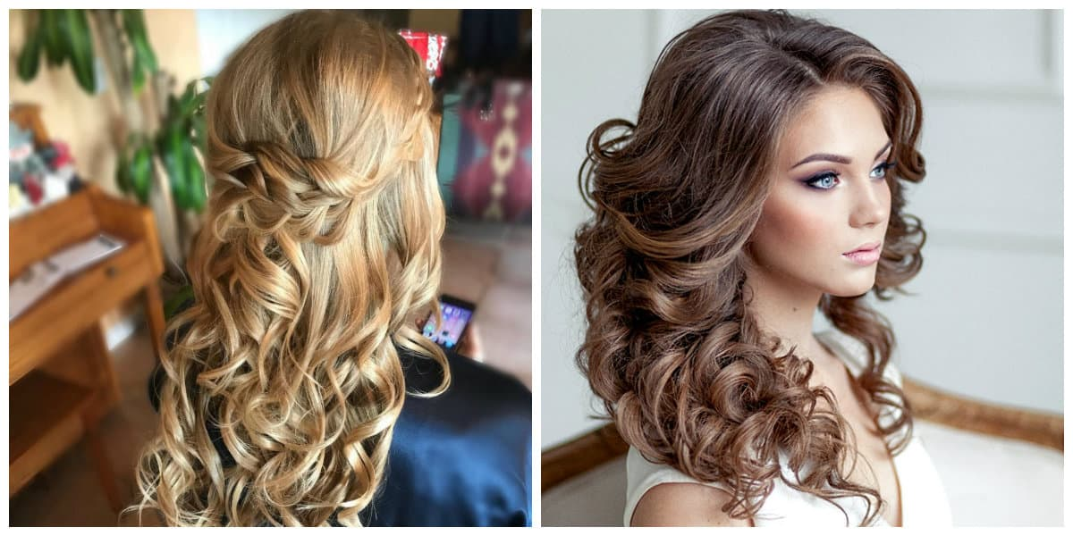 formal hairstyles for long hair, stylish bohemian curls for long hair