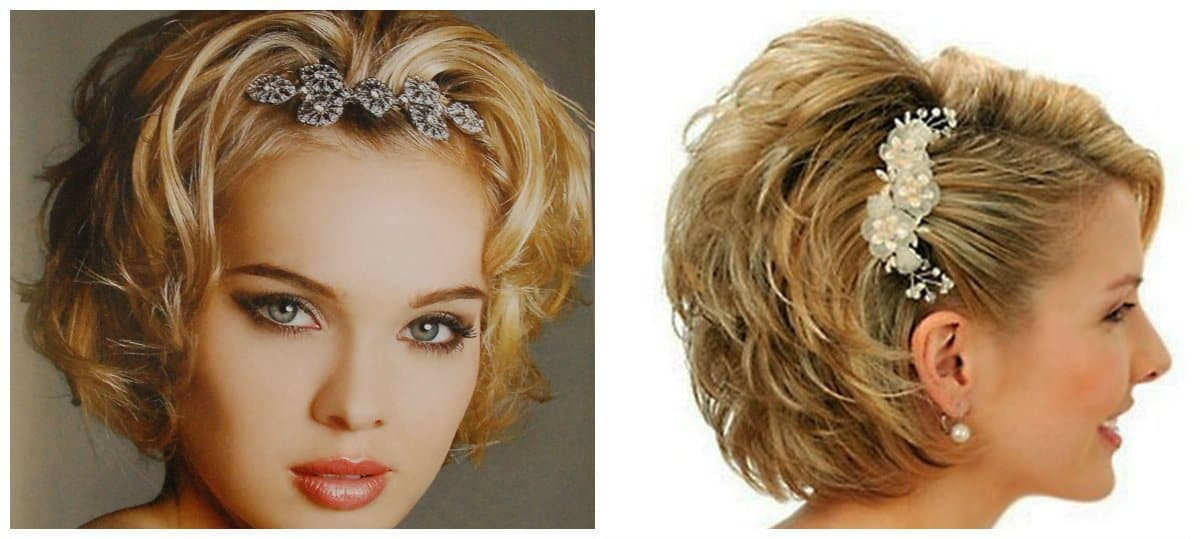 formal hairstyles for short hair, formal short hair with accessories