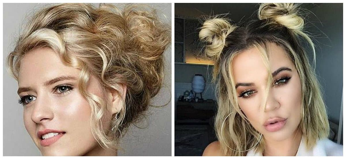 formal hairstyles for short hair, stylish French bun for formal short hair