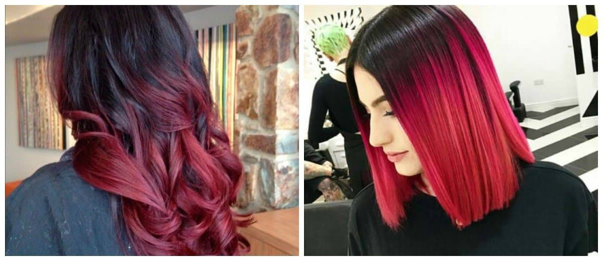 how to get a dark red hair color, melioration technique for dark red hair