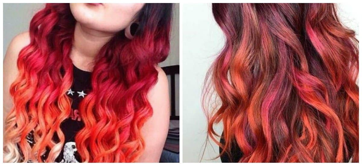 how to get a dark red hair color, multi tone ombre dark red hair