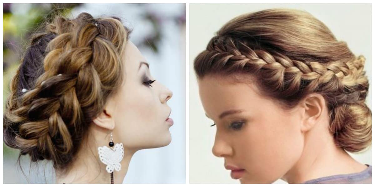 simple updos for long hair, stylish rim from pigtails hairstyle