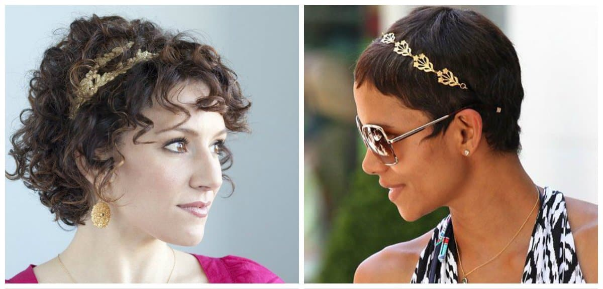 simple updos for short hair, stylish Greek style for short hair