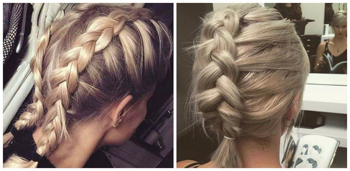 updo hairstyles for short hair, french braids for short hair