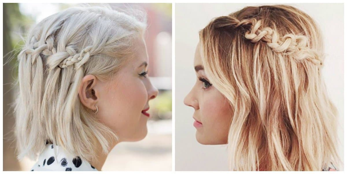 updo hairstyles for short hair, stylish short hair macrame