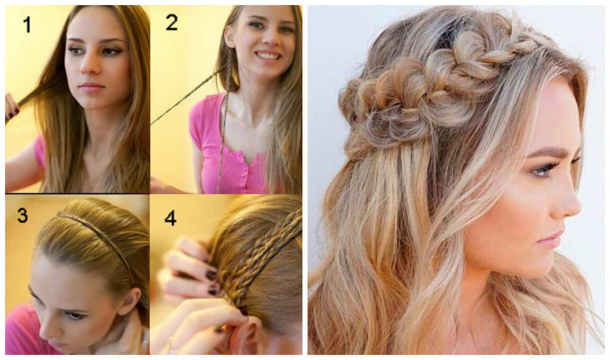 updos for long hair, fashionable bezel trim hairstyle