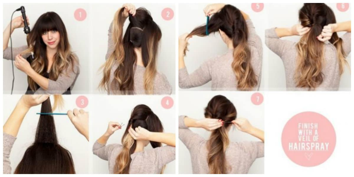 updos for long hair, stylish hairstyle with fleece