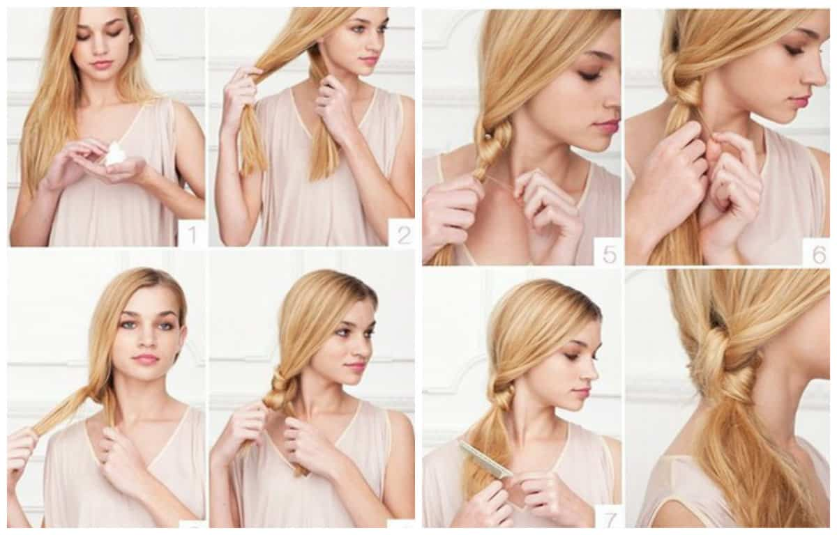 updos for long hair, fashionable hairstyles with knots