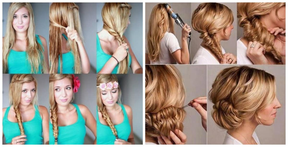 updos for long hair, fashionable long beams