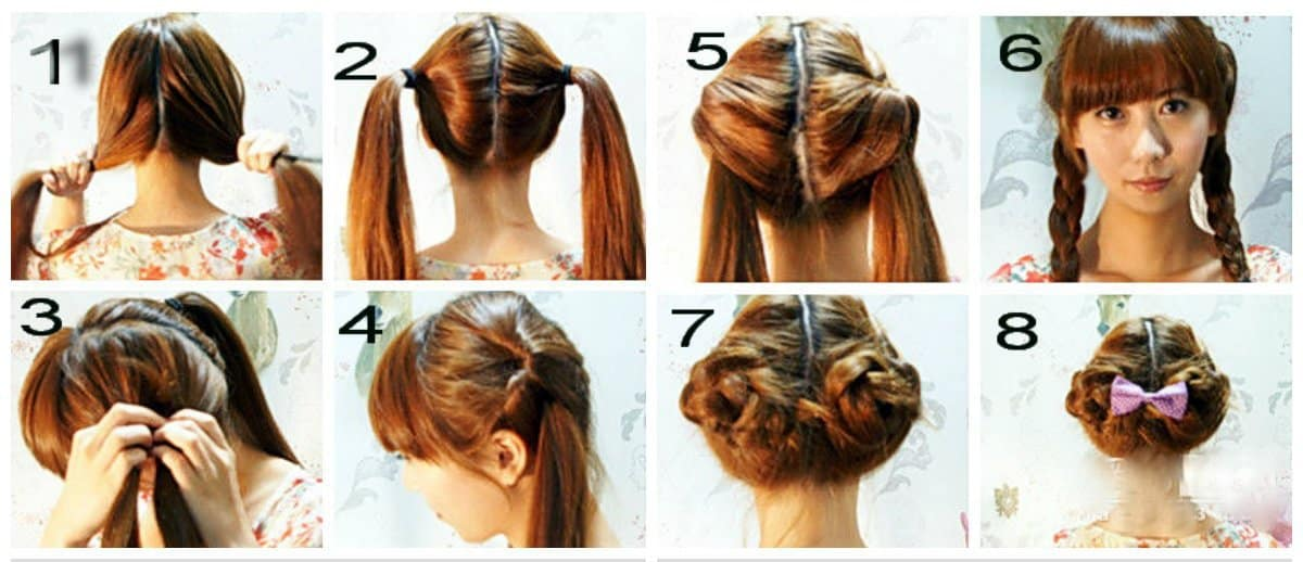 updos for long hair, stylish ponytails and plaits for long hair