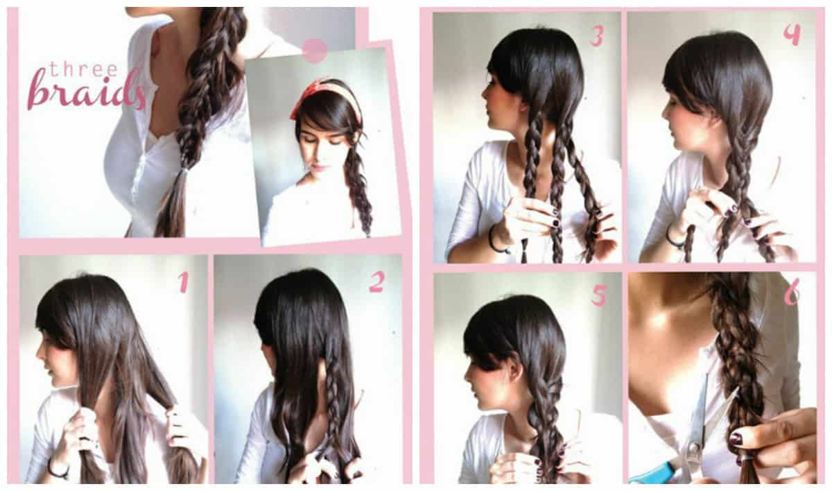 updos for long hair, unusual spit for long hair