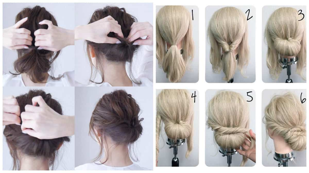 updos for medium hair, stylish Aurora hairstyle for medium hair