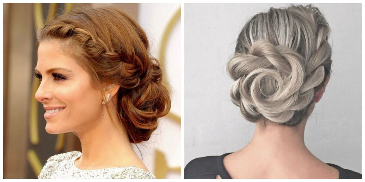 updos for medium hair, stylish shell hairstyle for medium hair