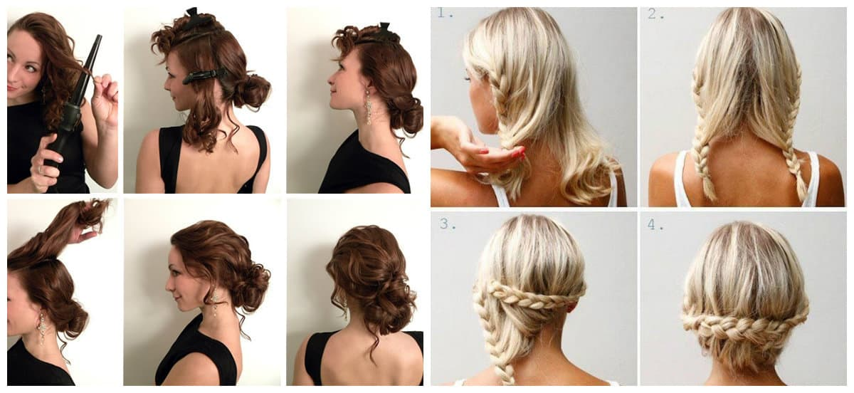 updos for medium hair, stylish ideas for medium hair updos