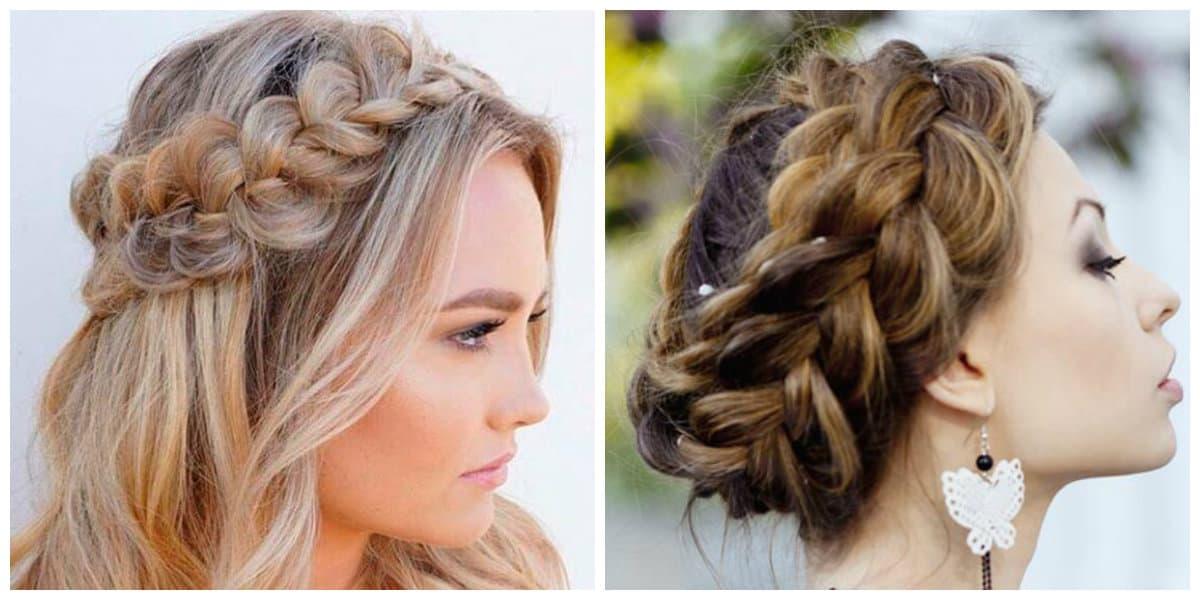 upstyles for long hair, fashionable bezel rim for long hair