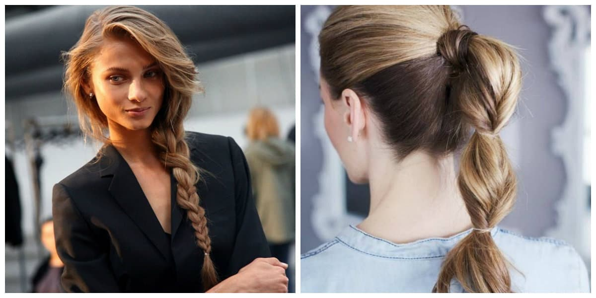 upstyles for long hair, fashionable tail for long tail