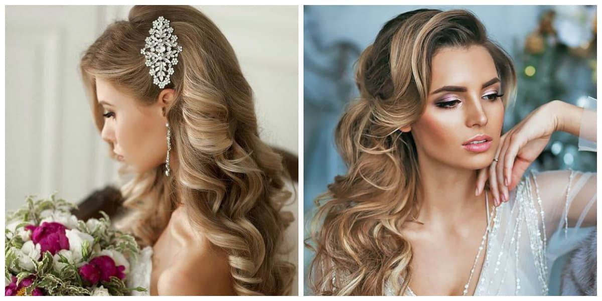 wedding updos for long hair, Bohemian curls in wedding updos for long hair