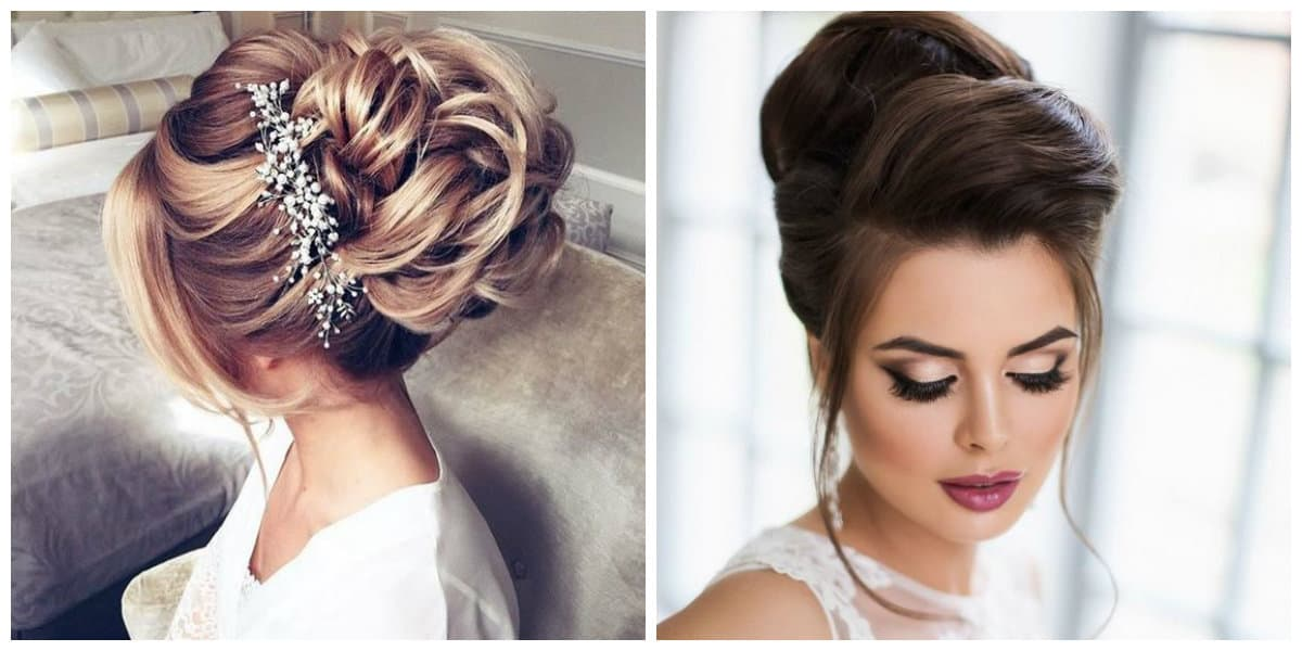 wedding updos for long hair, stylish bunches and knots for wedding hairstyles