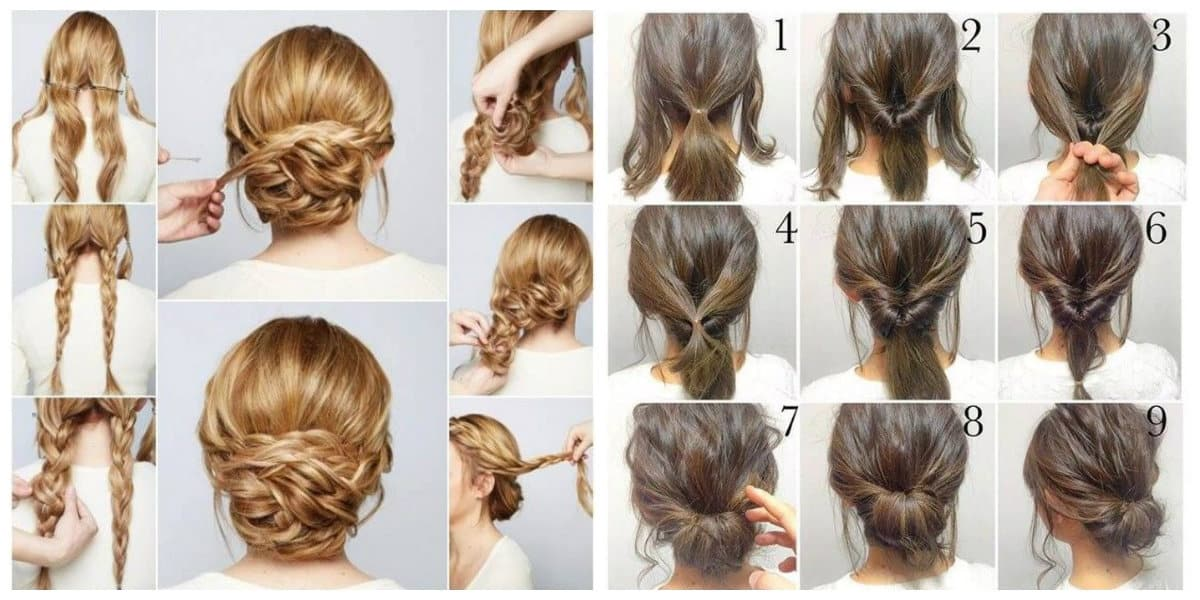 cute updos for long hair, fashionable low beam upstyle