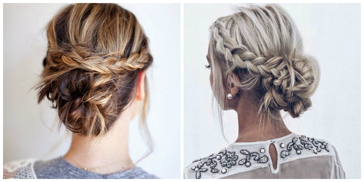 easy up styles for long hair easy upstyles for hair top 11 fashionable and cool 5072 | easy upstyles for long hair braided bun easy upstyles for long hair