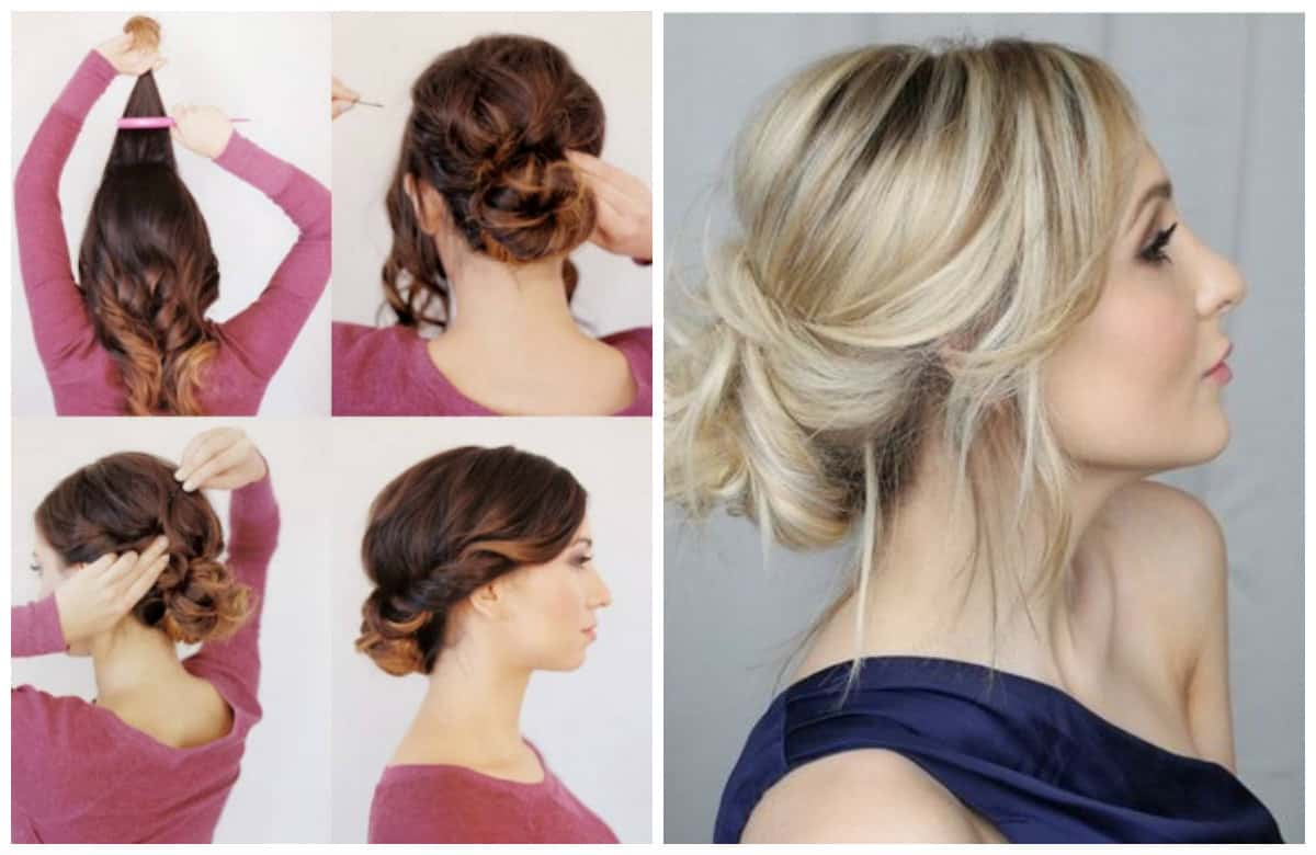 easy upstyles for long hair, fashionable hairstyle elegant sheaf