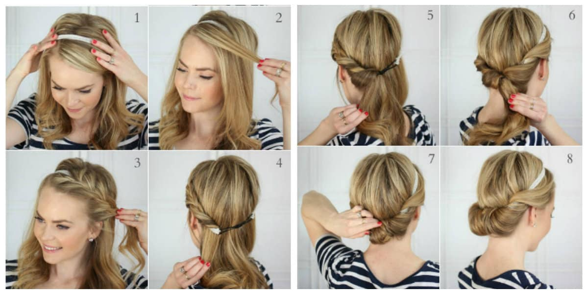 easy upstyles for long hair, simple French scythe hairstyle