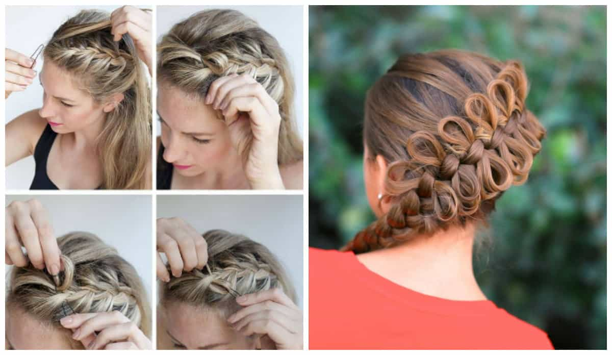 easy upstyles for long hair, stylish hairstyle bows