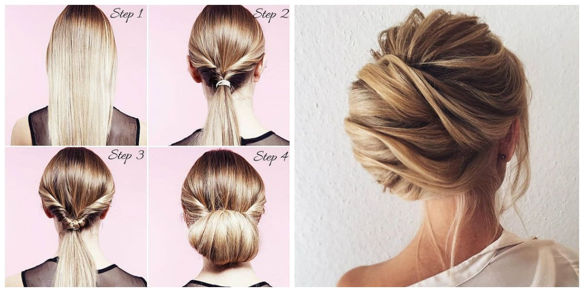fancy hairstyles for long hair, upstyles with bundle