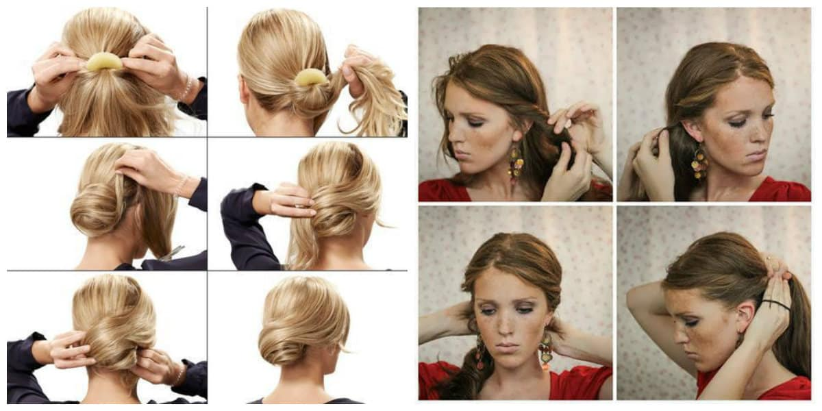 fancy hairstyles for long hair, stylish updos with harnesses