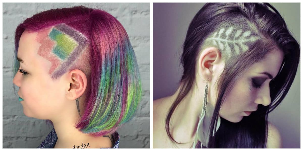 2019 hair trends, fashionable bob haircut with hair tattoo