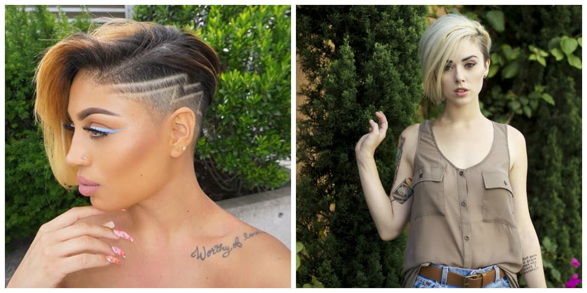 2019 hair trends, fashionable shaved bob hairstyle 2019