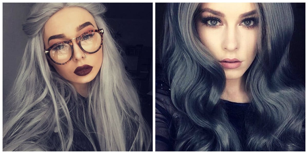 granny hair 2019, dark gray hair color, ash gray hair color