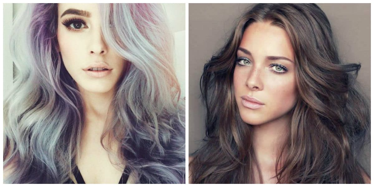 granny hair 2019, gray-brown hair color, gray-violet hair color