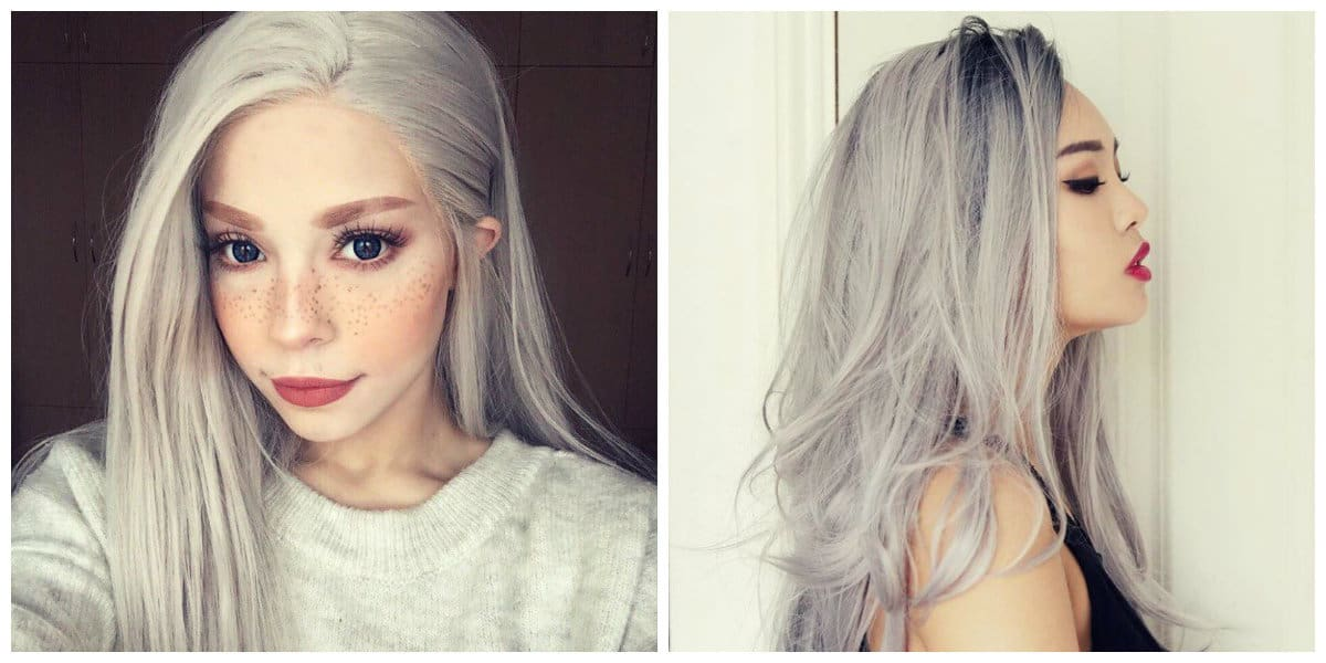 granny hair 2019, light gray hair, gray blond hair